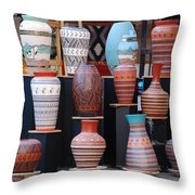 S W Potery Throw Pillow