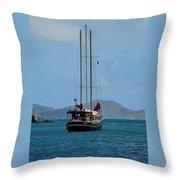 Sailing Virgin Islands Throw Pillow