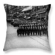 Sailors Marching In Parade 19171918 Black White Throw Pillow