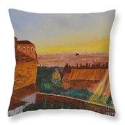 San Gimignano Sunrise Throw Pillow
