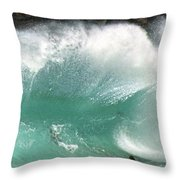 Sandy Beach Shorebreak Throw Pillow