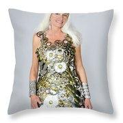 Sara In Clockwork Dragon Dress  Throw Pillow