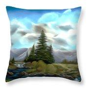Serpentine Creek Dreamy Mirage Throw Pillow