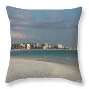 Siesta Key Beach Throw Pillow