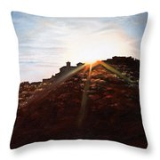Silhouetted Mountain Throw Pillow