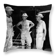 Soldiers Without Shirts 91st Infantry Division Throw Pillow
