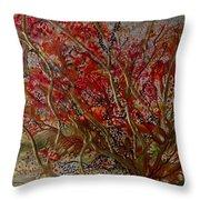 Song Of Autumn  Throw Pillow