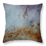 South African  Pertroglyph Throw Pillow