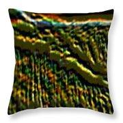 South Rim- N -green Grandeur Throw Pillow