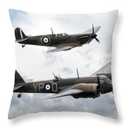 Spitfire And Blenheim Throw Pillow