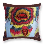 Splitting Throw Pillow