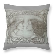 Spring Lovers With Snowdrops Throw Pillow