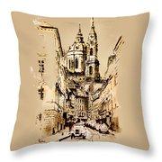 St. Nicholas Church In Prague Throw Pillow