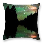 Starry Dreamscape Throw Pillow