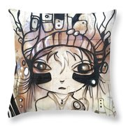 Strange Girl Throw Pillow