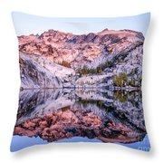 Leprechaun Lake Sunrise Throw Pillow
