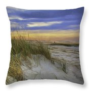 Sunset Beach Dunes Throw Pillow