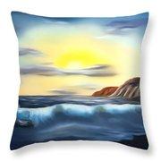Sunset Beach Pastel Splash Dreamy Mirage Throw Pillow