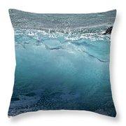 Surf Starter, Kekaha Beach Throw Pillow