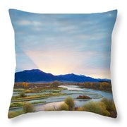 Swan Valley Sunrise Throw Pillow