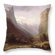 Swiss Scene Throw Pillow