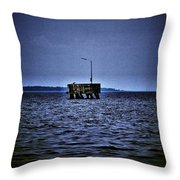 The Dock Of Loneliness Throw Pillow