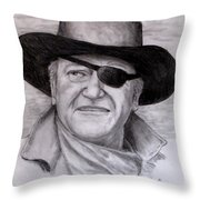 The Duke Throw Pillow by Jack Skinner