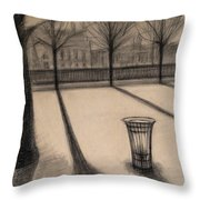 The Evening In Tuileries Paris Throw Pillow