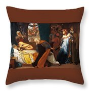 The Feigned Death Of Juliet  Throw Pillow