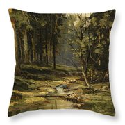 The Forest Brook Throw Pillow