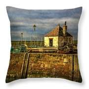 The Harbour At Maryport Throw Pillow