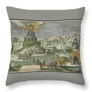 The Lighthouse Of Alexandria Throw Pillow