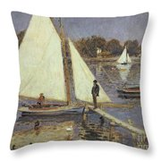 The Seine At Argenteuil Throw Pillow