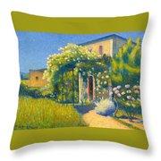 The Studio At Alet-les-bains Throw Pillow