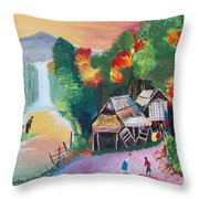 The Village Throw Pillow