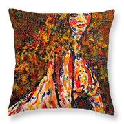 The Wild Woman Throw Pillow