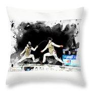 The World Cup Women's Foil  2  Throw Pillow