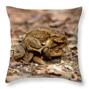 Three Is A Crowd Throw Pillow