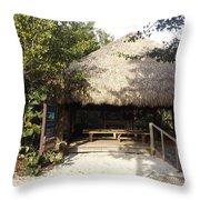 Tiki Hut  Throw Pillow