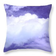 Tree Clouds Hill Throw Pillow