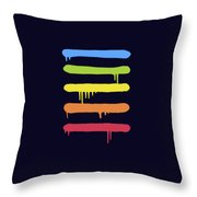 Trendy Cool Graffiti Tag Lines Throw Pillow