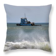 Tugboat Thomas D Witte Throw Pillow