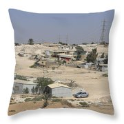 Unrecognized, Beduin Shanty Township  Throw Pillow