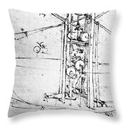 Vertically Standing Bird's Winged Flying Machine Throw Pillow