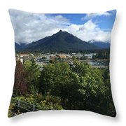 View From Top Of Castle Hill Sitka Alaska 2015 Throw Pillow