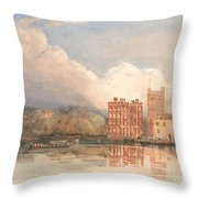 View Of Lambeth Palace On Thames Throw Pillow