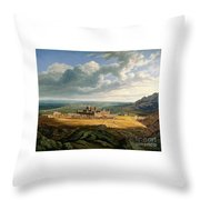 View Of The Escorial Throw Pillow