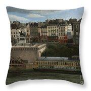 View Of The Seine Throw Pillow