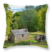 Village Blacksmith Shop Throw Pillow