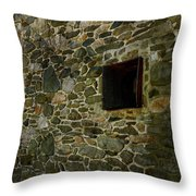 Vintage Stone Wall In Radnor  Pa Throw Pillow